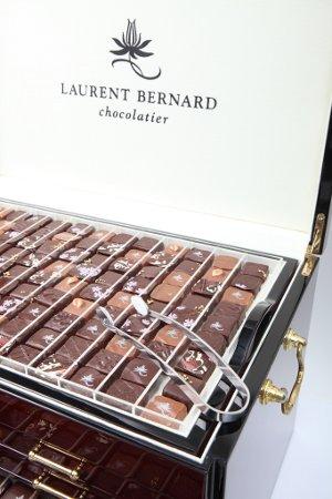 A display of Laurent Bernard's chocolates