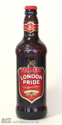A bottle of Fuller's London Pride bitter ale