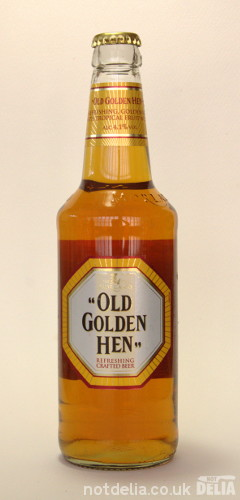 A bottle of Morland's Old Golden Hen
