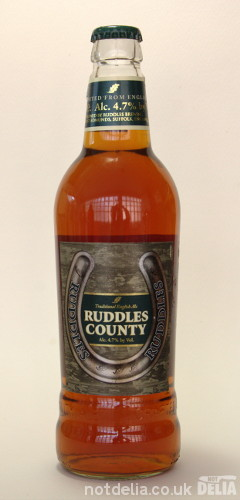 A bottle of Ruddles County ale