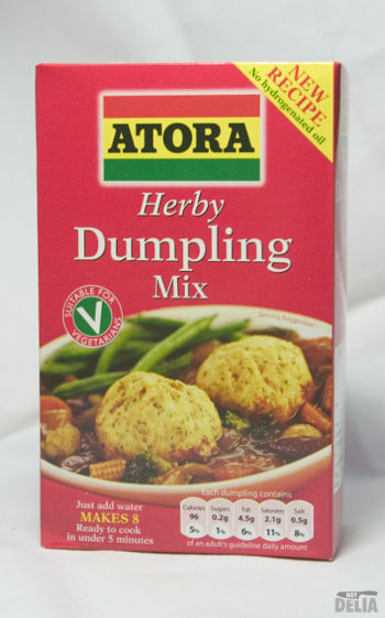 A packet of Atora Herby Dumpling Mix
