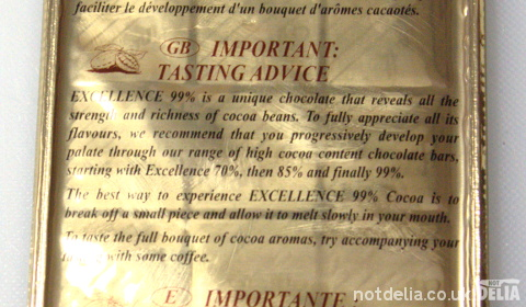 Lindt's advice on how to fully appreciate their 99% cocoa chocolate
