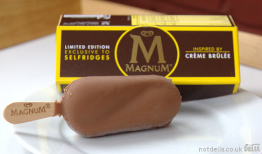 A special edition Magnum ice-cream lolly