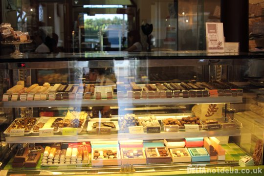 A display of chocolates in The Shop in Phnom Penh