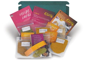 Curry recipe kits from Wish.co.uk