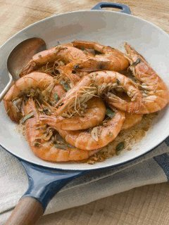 Prawns in garlic butter