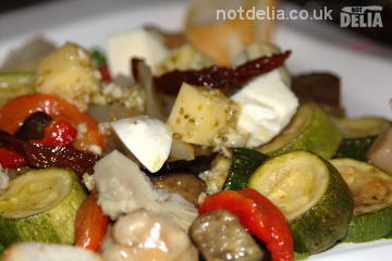 Vegetarian antipasto from Zaks Wine Pub, Bangkok