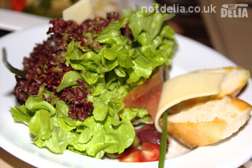Serrano ham and Manchego cheese salad from Zaks Wine Pub, Bangkok
