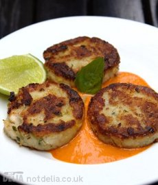 Fish cakes from the Friends restaurant in Phnom Penh