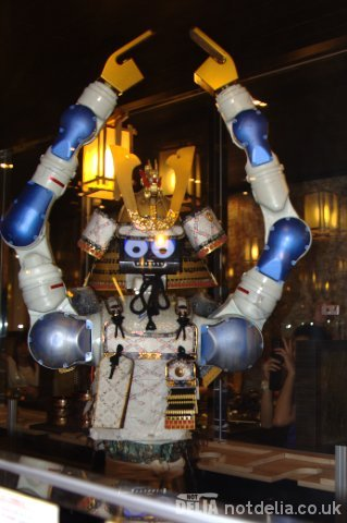 The robot waiter at Hajime Japanese restaurant in southern Bangkok