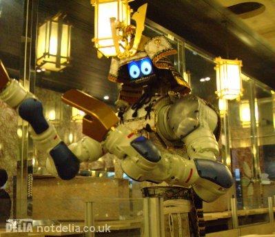 The robot waiter dancing at Hajime restaurant